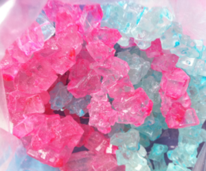 pink, blue, and candy image