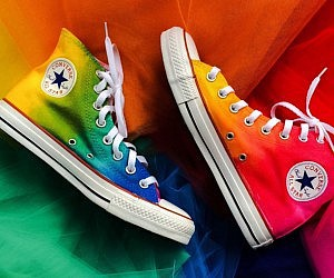 all stars, colorful, and converse image