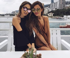 girl, friends, and beauty image