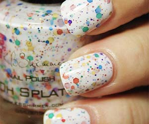 nail art, colorful, and splatter image