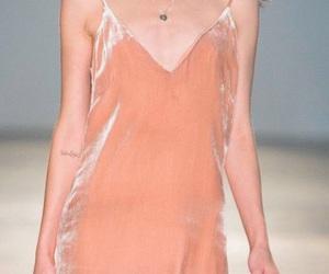 dress, runway, and silk image