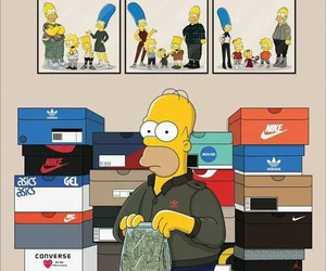 simpsons, adidas, and nike image