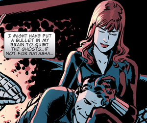 winter soldier, black widow, and Marvel image