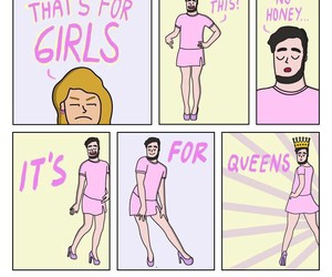 pink, Queen, and funny image