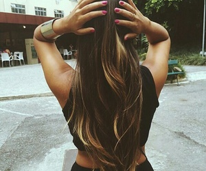 beautiful, brunette, and cabelo image