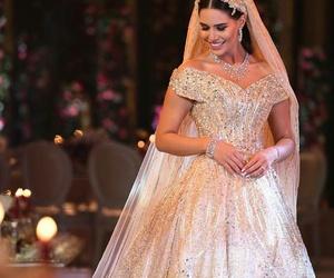 wedding bride gold dress image