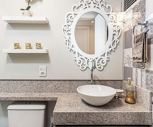 apartment, bathroom, and flowers image