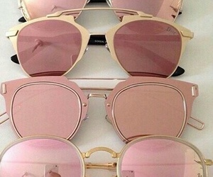 sunglasses, pink, and summer image