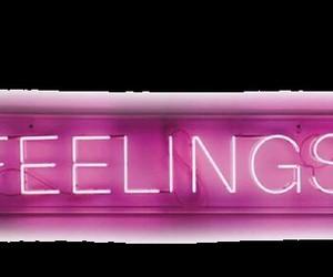 feelings, pink, and neon image