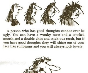 quote, ugly, and Roald Dahl image