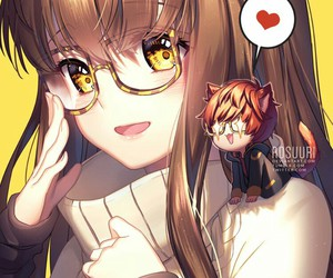 mystic messenger, 707, and anime girl image