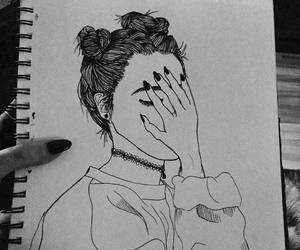 art, black, and draw image