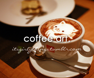 art, coffee art, and drink image