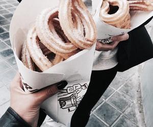 food, churros, and sweet image