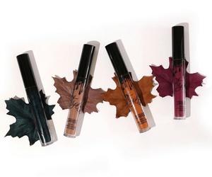 makeup, autumn, and lipstick image