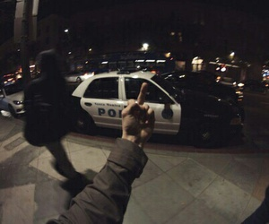 blurry, police, and fuck image