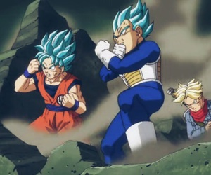 trunks, dragon ball z, and goku image