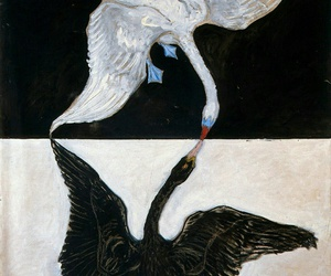 Swan, art, and painting image