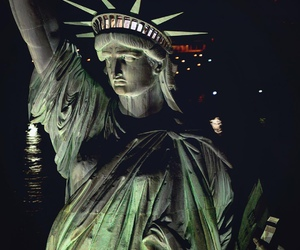 new york city, nyc, and statue of liberty image