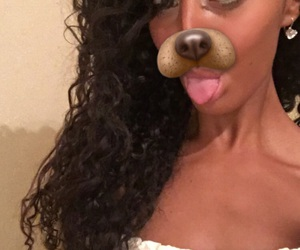 curly, girl, and snapchat image