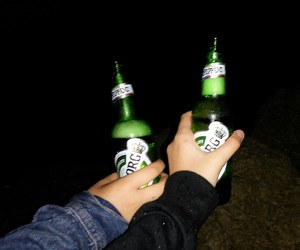 beer, friendship, and girl image