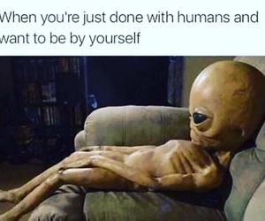 alien, funny, and lit image