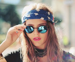 girl, style, and glasses image