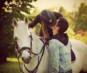 kiss, love, and horse image