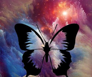 butterfly, galaxy, and wallpaper image