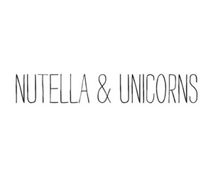 nutella, unicorns, and cant get enough image