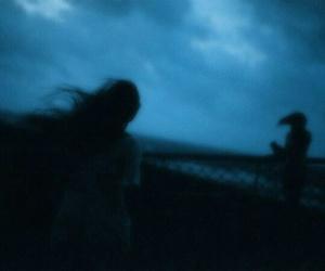 grunge, blue, and dark image