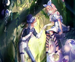 alice in wonderland, anime girl, and fantasy image