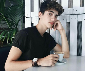 boy, manu rios, and coffee image