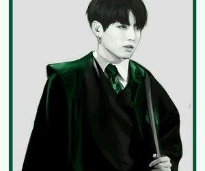 jungkook, bts, and harry potter image