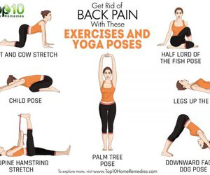 yoga poses, back pain, and exerecise image