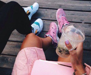 fashion, nike, and drink image