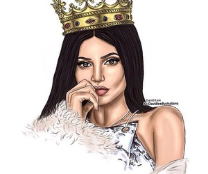 kylie jenner, art, and Queen image
