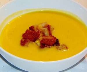 curry, croutons, and food image