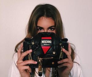 kaia gerber, model, and Moschino image