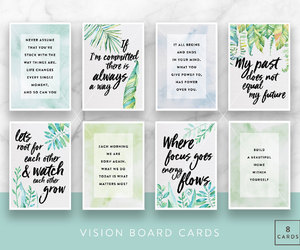 affirmation, quotes, and vision board image