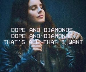lana del rey, diamond, and grunge image