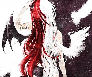 angel, anime girl, and red hair image