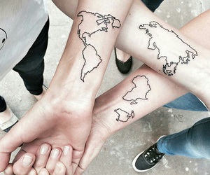tattoo, world, and friends image