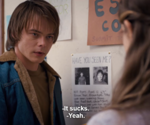 stranger things, quotes, and life image