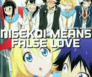 anime, nisekoi, and anime facts image
