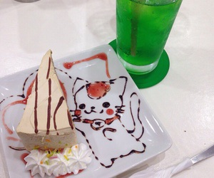 cake, food, and cat image