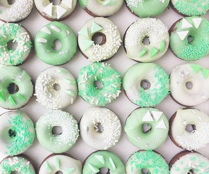 donuts, food, and green image