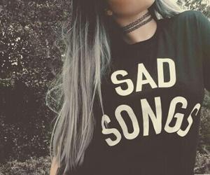 black, hair, and sad image