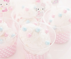 hello kitty, pink, and ice cream image
