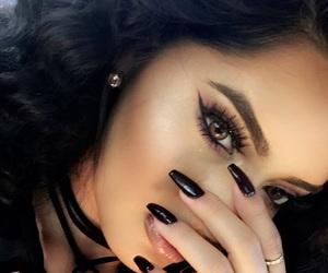 makeup, nails, and baddie image